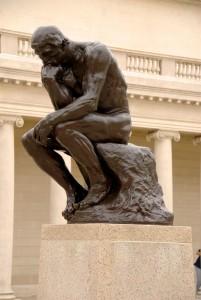 Thinking away.Greek Thinker Auguste Rodin.