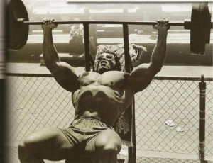 The Legend Arnold Schwarzenegger training. Need I say more.
